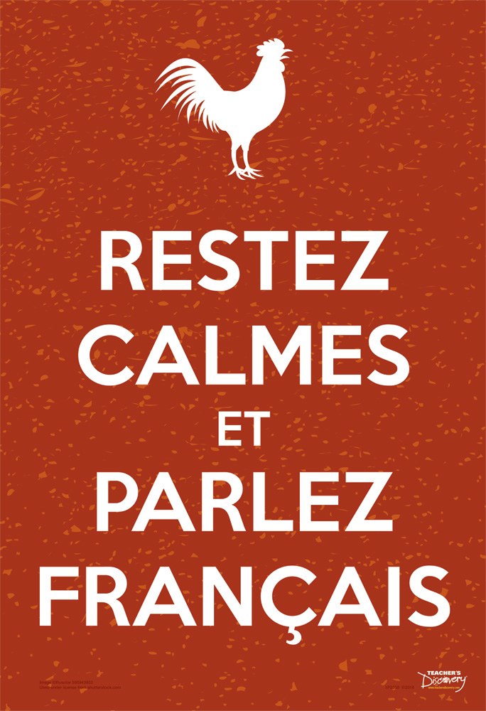 Keep Calm and Speak French Mini-Poster