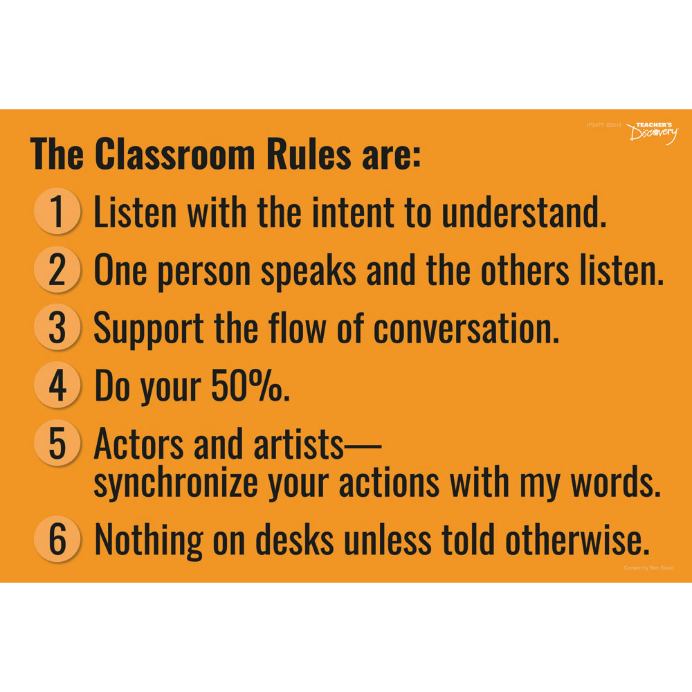 Ben's Classroom Rules Sign