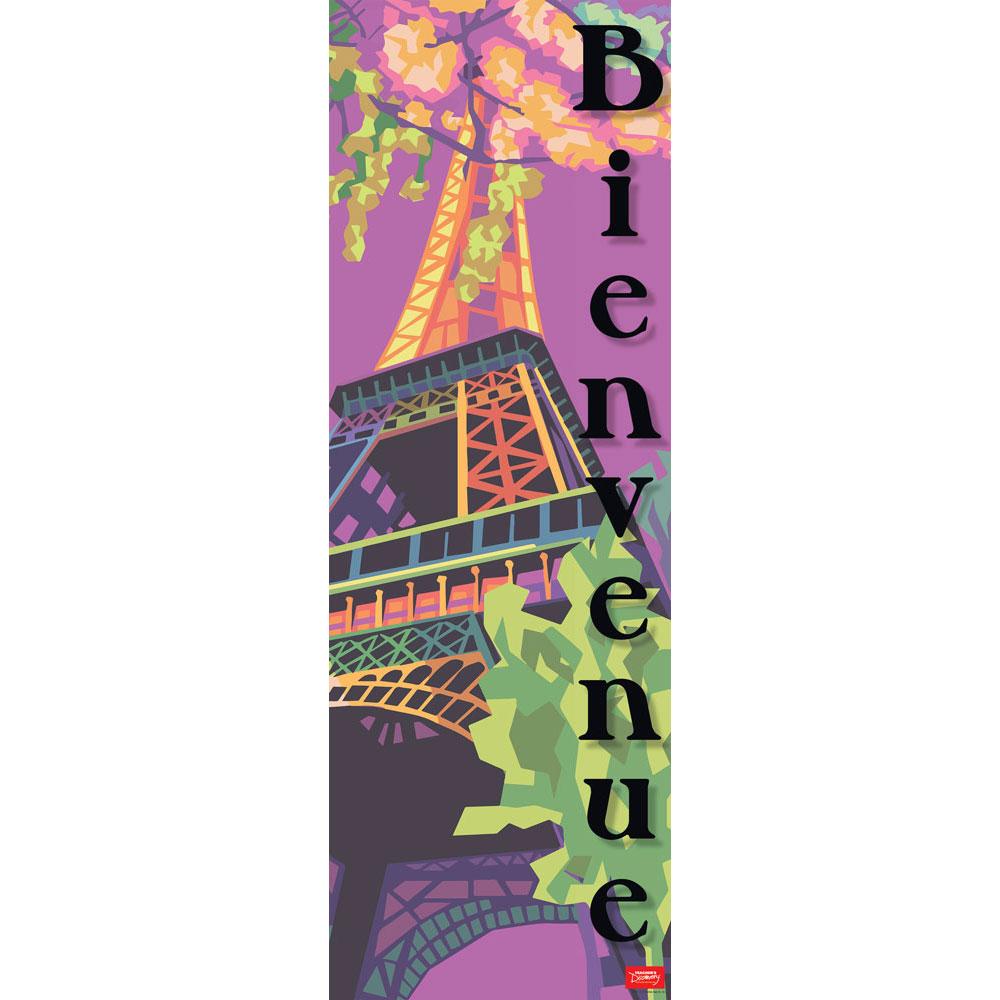Paris Bienvenue Skinny Poster