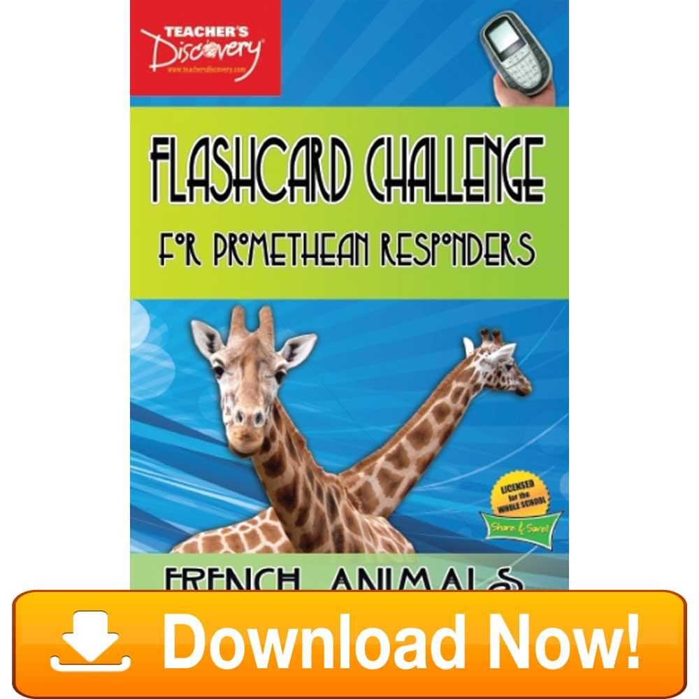 French Digital Flashcard Challenge Promethean Animals Download