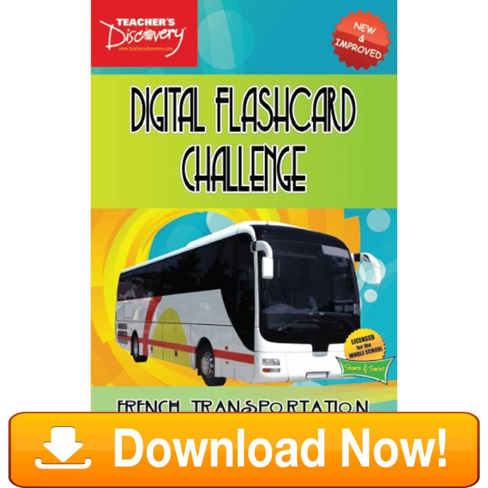 French Digital Flashcard Challenge Promethean Transportation Download