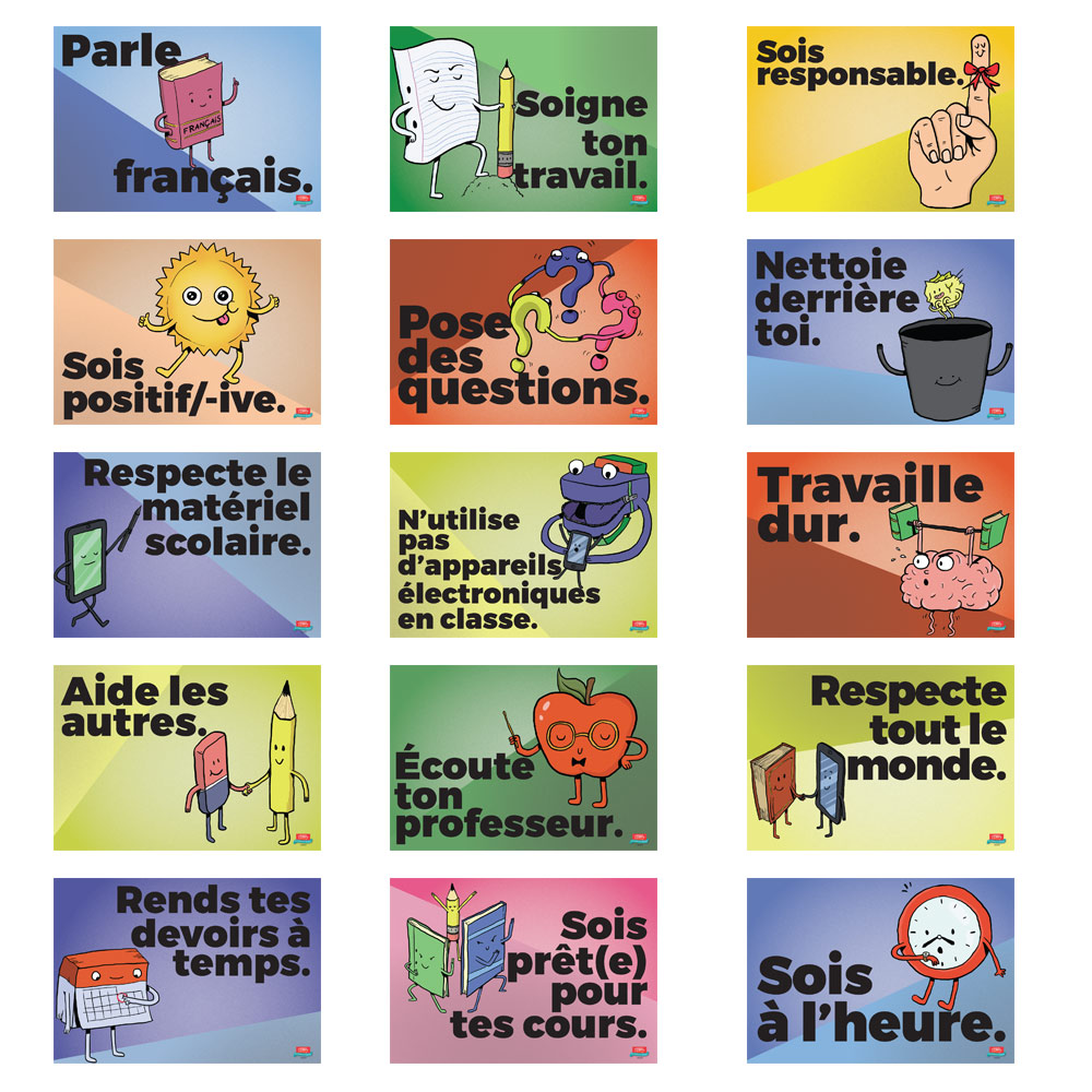 Common Sense Rules French Mini-Poster Set