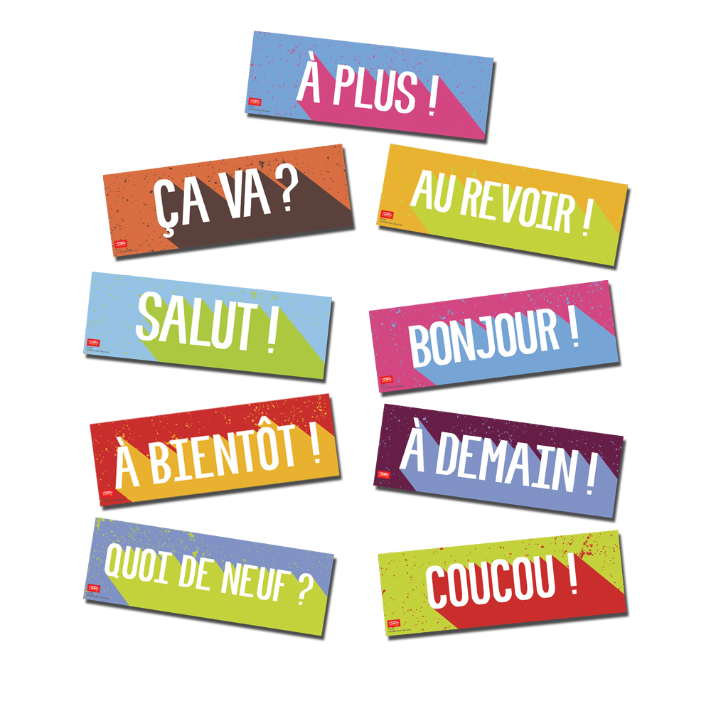 Greetings french bulletin board set french teachers discovery greetings french bulletin board set m4hsunfo