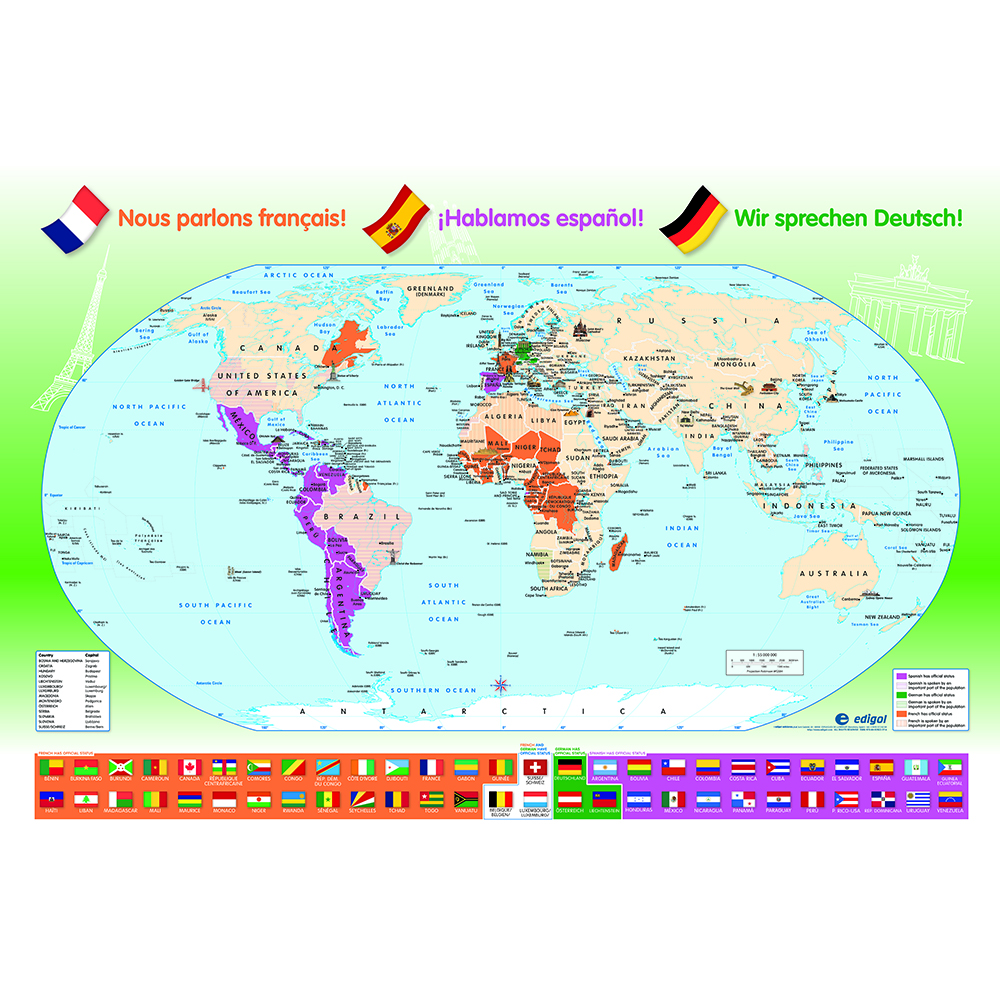 Language Distribution Map