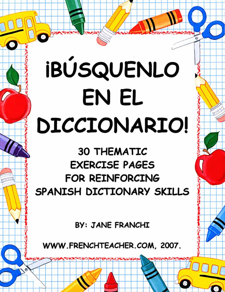 Busquenlo En El Diccionario Activity Packet Download
