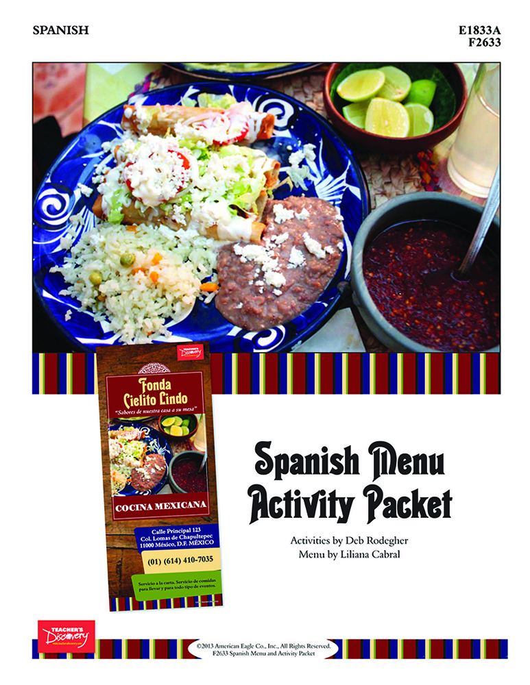 Spanish Menu and Activity Packet Download