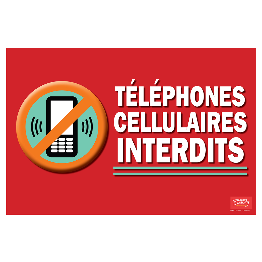 No Cell Phone / Téléphones cellulaires interdits French Mini-Poster