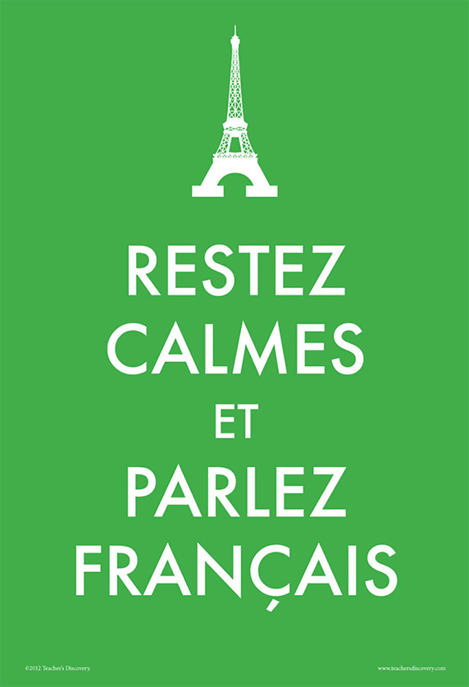 Keep Calm and Speak French Poster