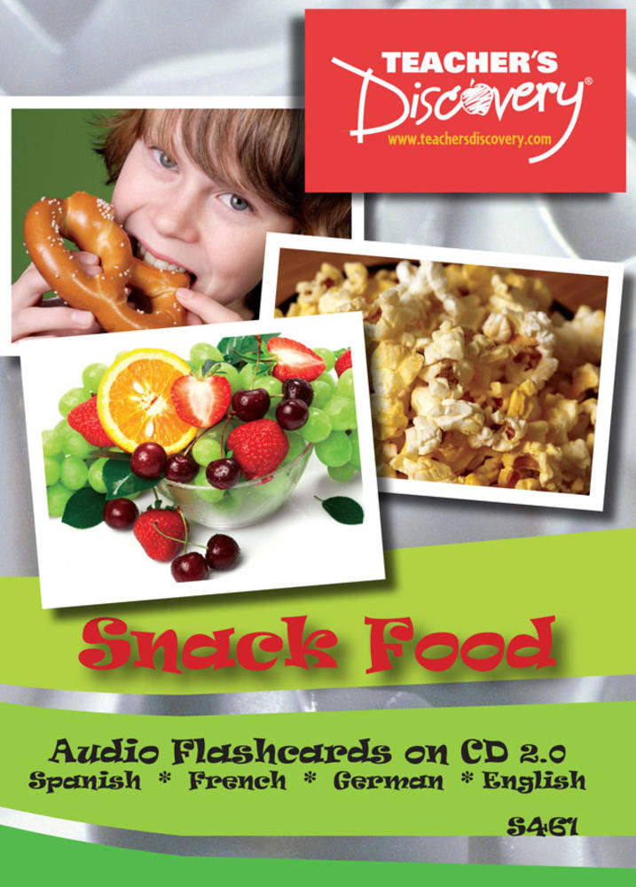 Audio Flash Cards Spanish / French / German / English Snack Food (2010)