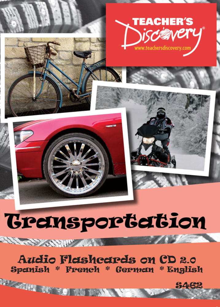 Audio Flash Cards Spanish/French/German/English Transportation