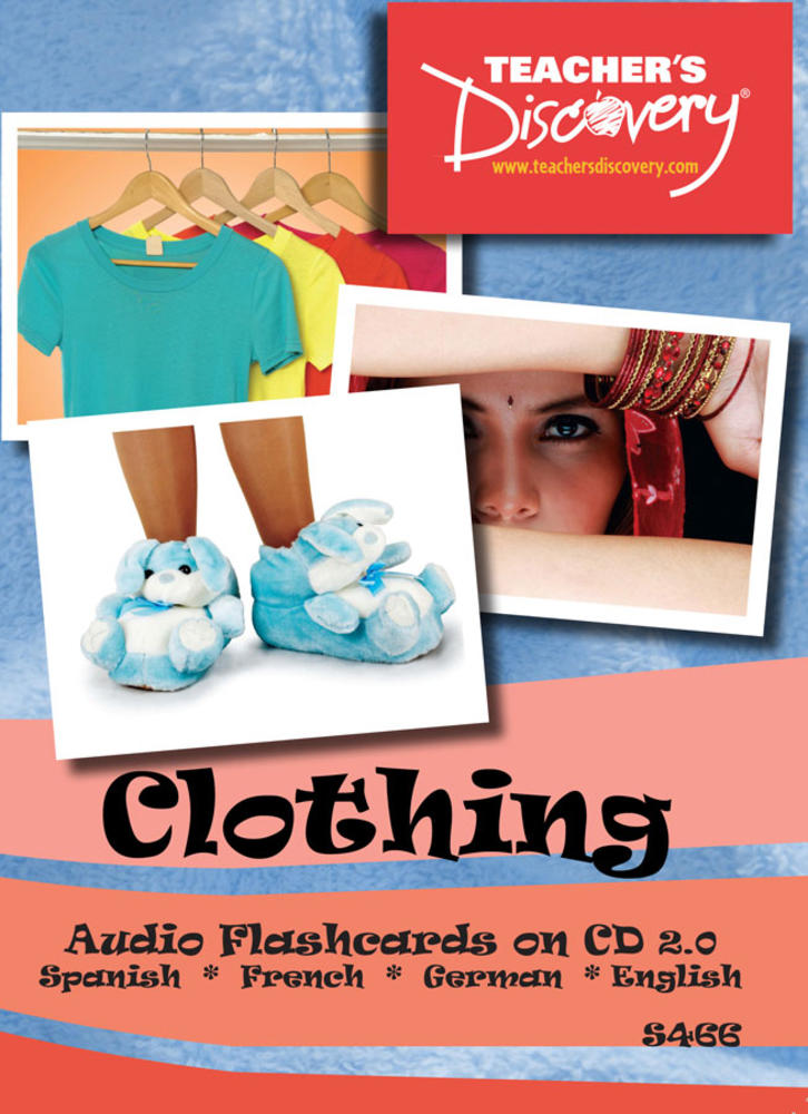 Audio Flash Cards Spanish/French/German/English Clothing (2010)