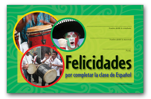 "Celebrations of Mexico ""Felicidades"" Spanish Certificate Download"