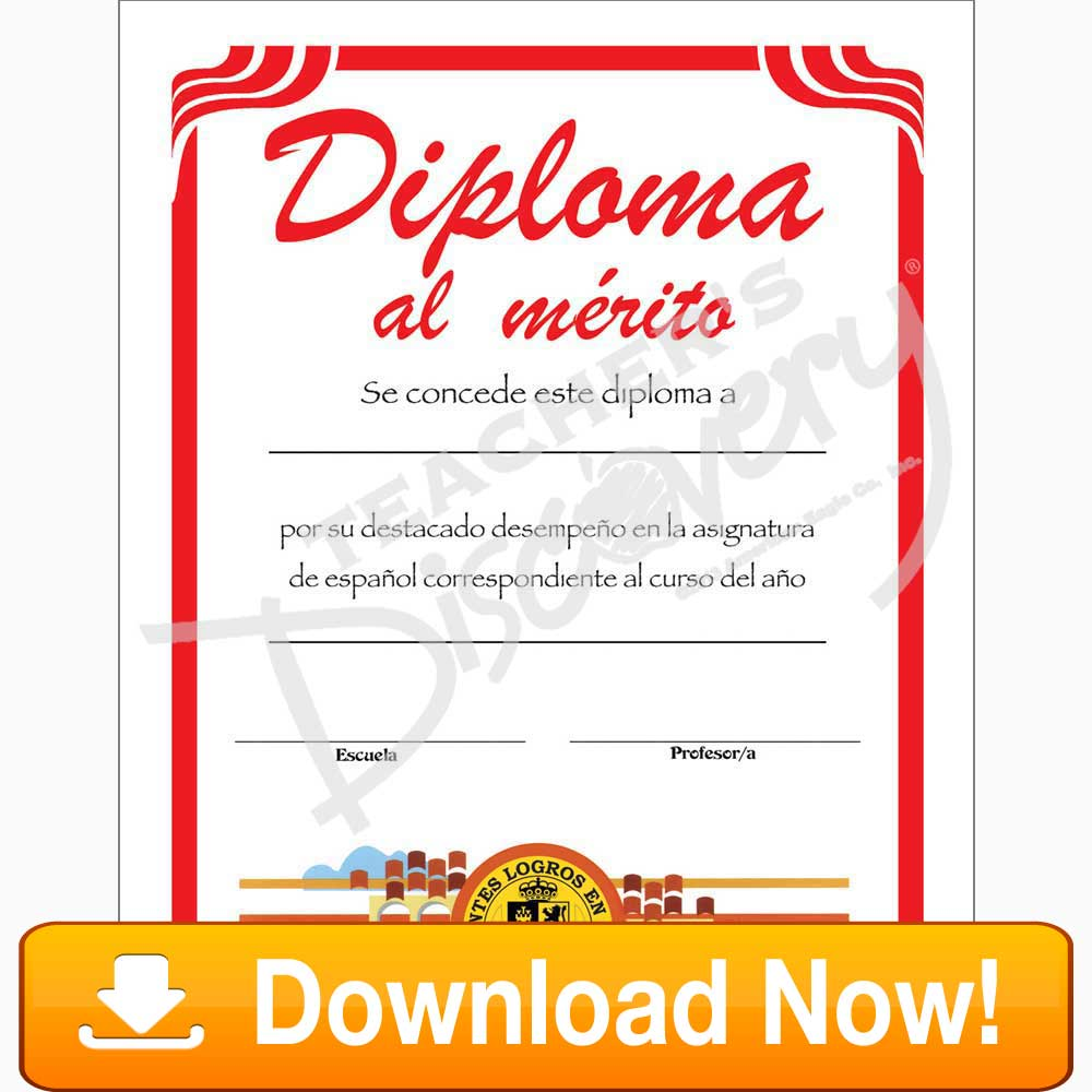 Other teachers discovery formal spanish certificate download 1betcityfo Gallery