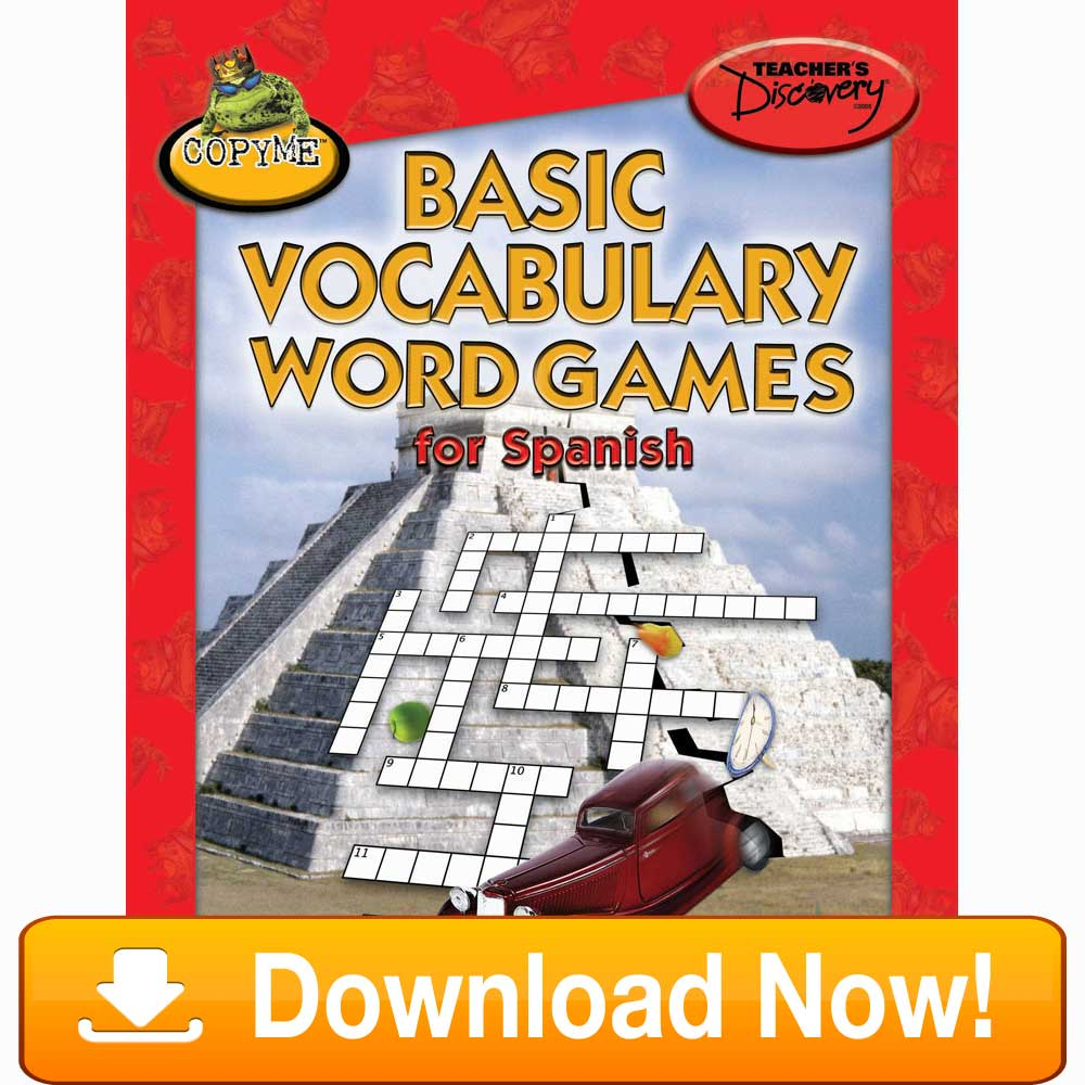 Basic Vocabulary Word Games for Spanish eBook Download