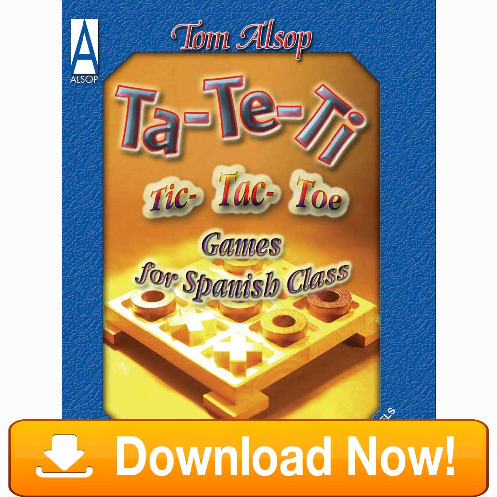 Tic-Tac-Toe Games for Spanish Class eBook Download