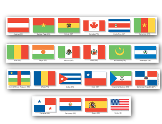 Flag Border Strips Set of 12