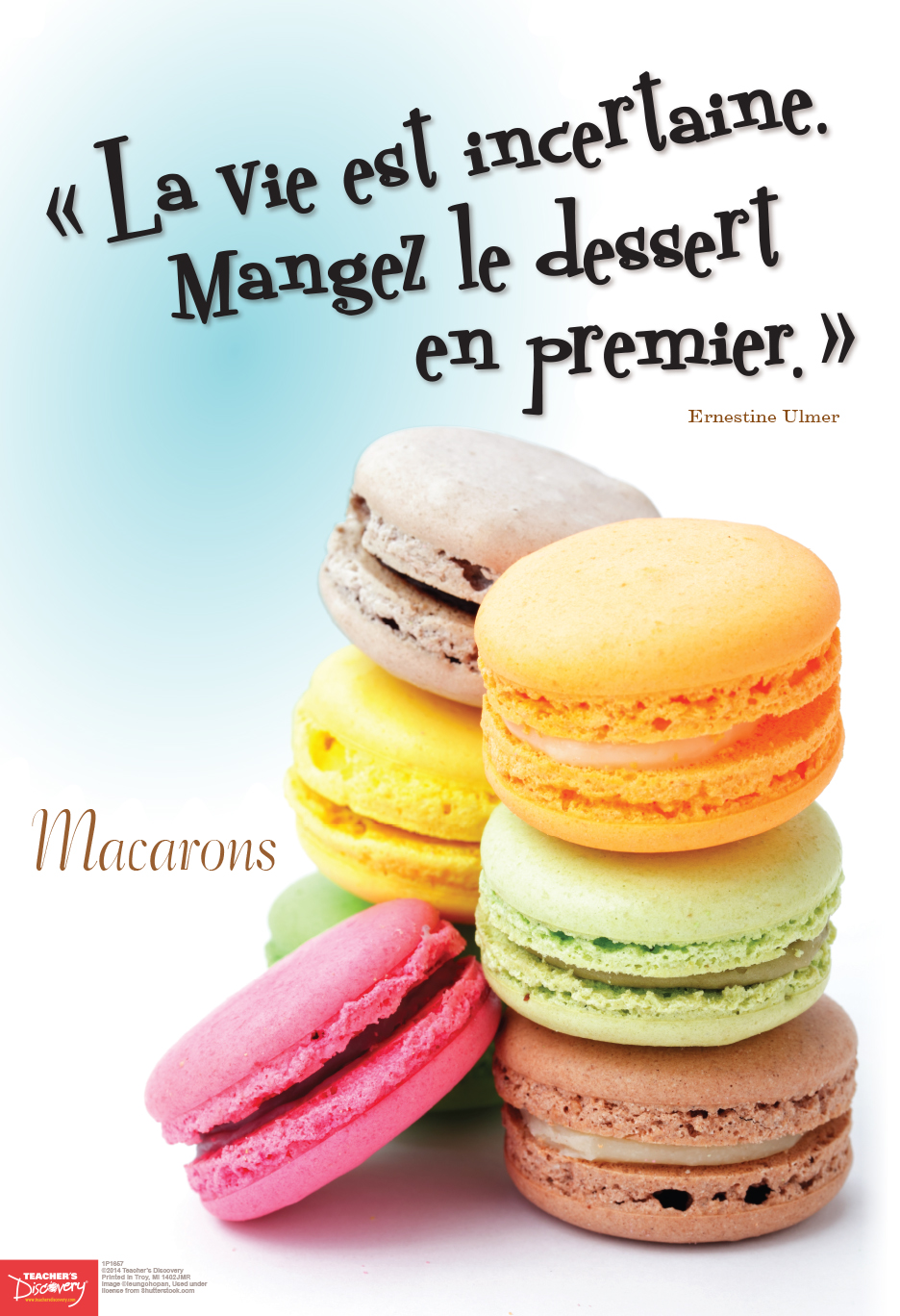 Dessert First French Mini-Poster
