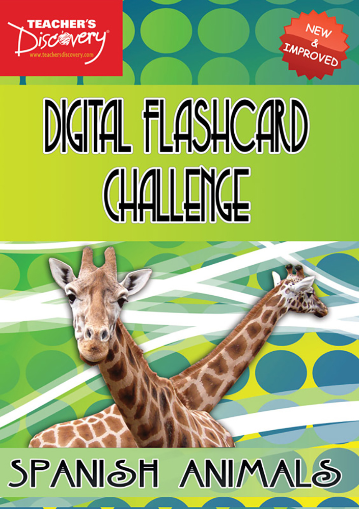 Digital Flashcard Challenge Game Spanish Animals Download