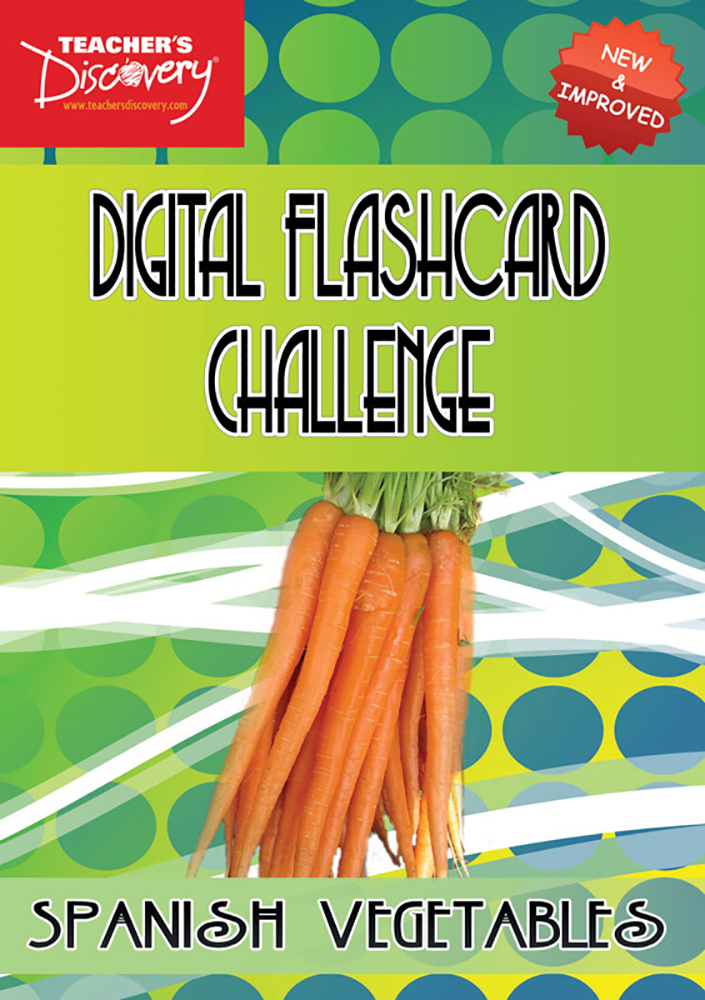Digital Flashcard Challenge Game Spanish Vegetables Download