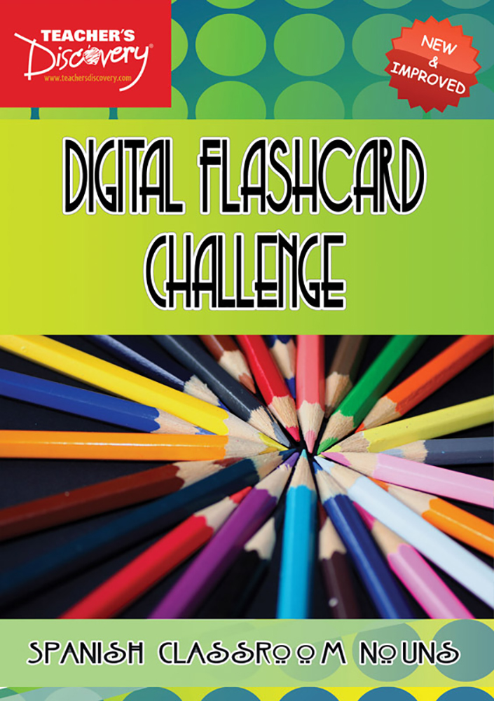 Digital Flashcard Challenge Game Spanish Classroom Nouns Download