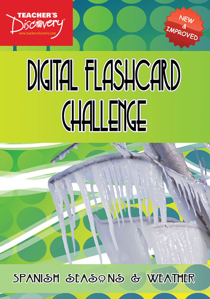 Digital Flashcard Challenge Game Spanish Seasons and Weather Download