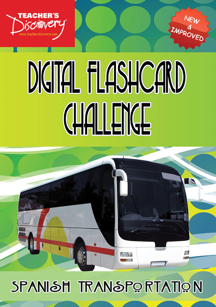 Digital Flashcard Challenge Game Spanish Transportation Download