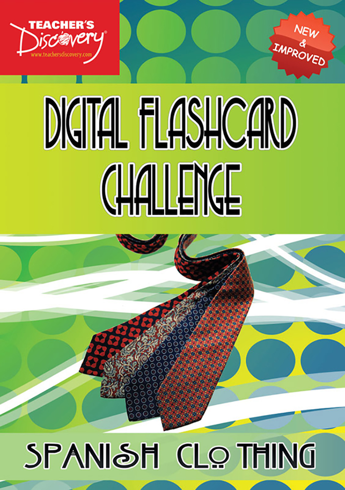 Digital Flashcard Challenge Game Spanish Clothing Download