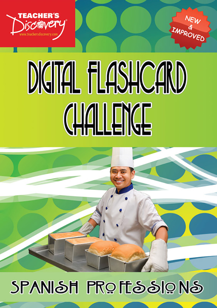 Digital Flashcard Challenge Game Spanish Professions Download