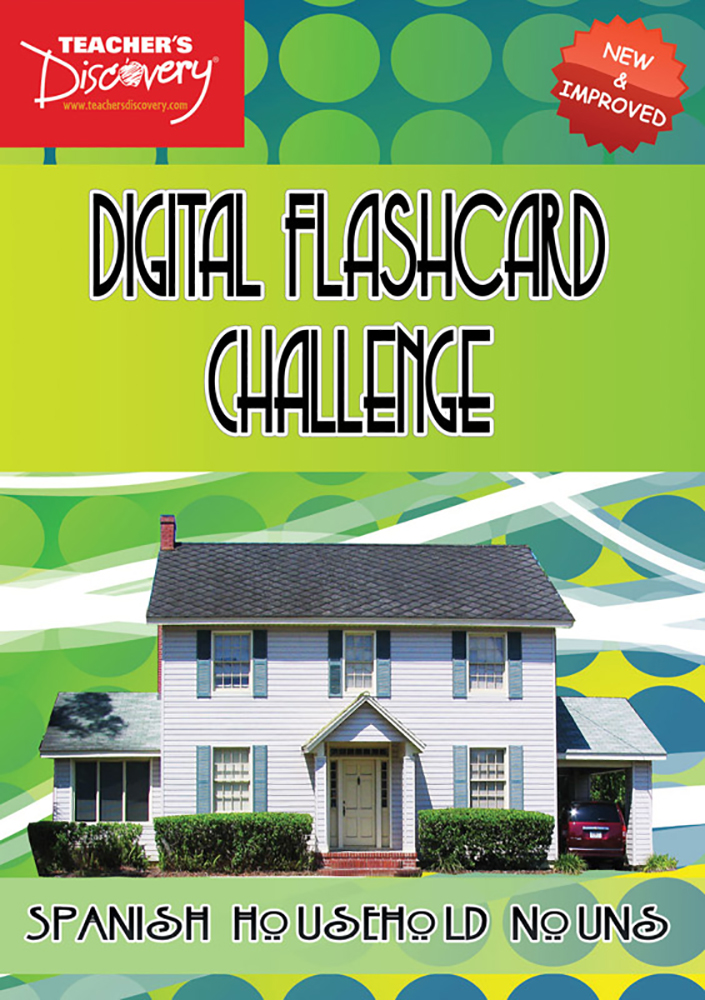 Digital Flashcard Challenge Game Spanish Household Nouns Download